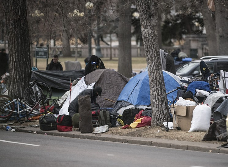 Image of homeless camp