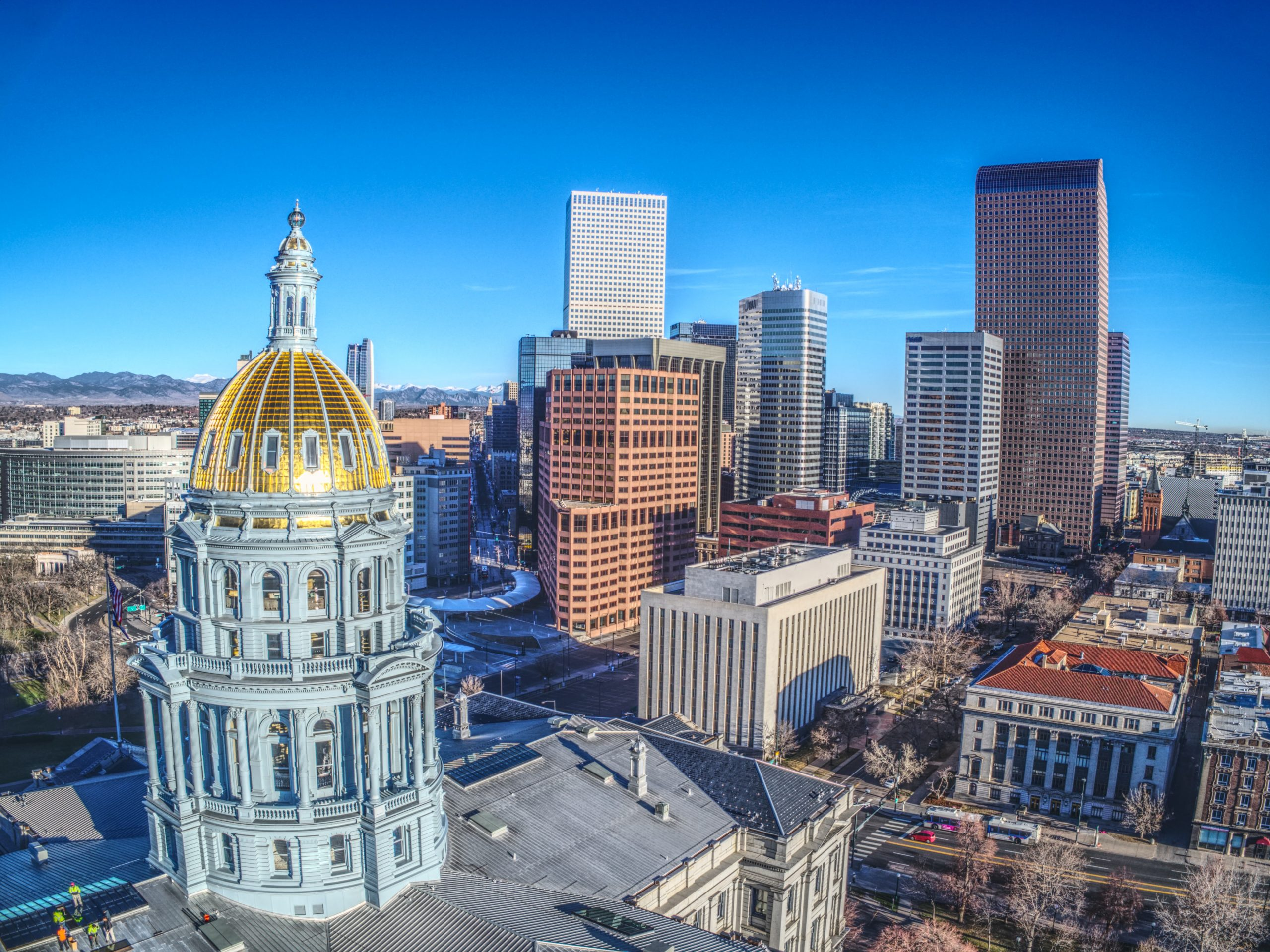 Image of the Denver skyline featuring the State Capitol Building