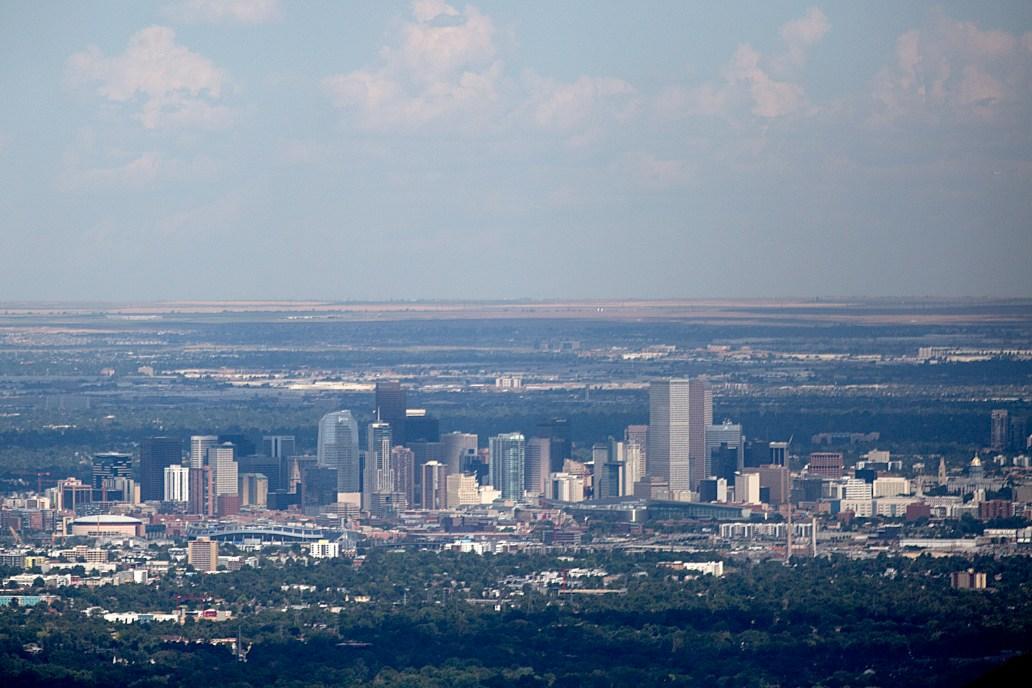 The Denver, Colorado skyline